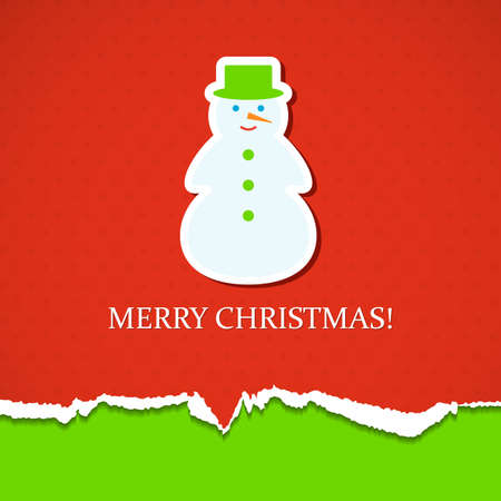 Christmas background with snowman. Vector illustration. Vector