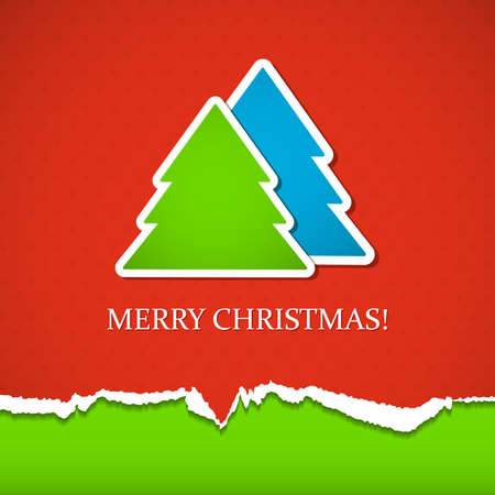 Background with Christmas tree.  Vector