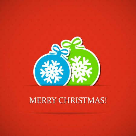 Rode kerst achtergrond met ballen. Vector Illustratie
