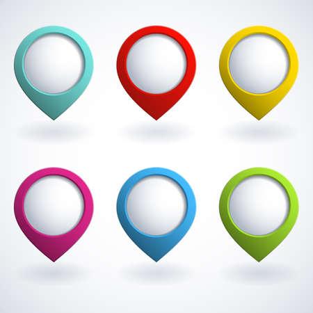 buttons: Set di pulsanti colorati 3d Vettoriali