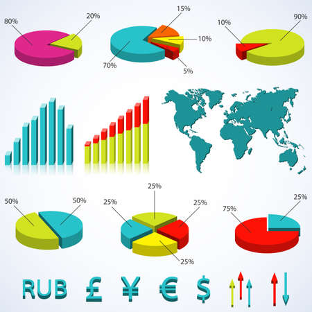ruble: Set elements of infographics