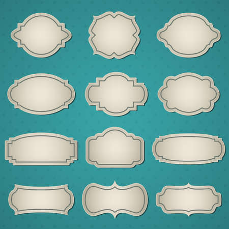 A set of retro frames.  Vector