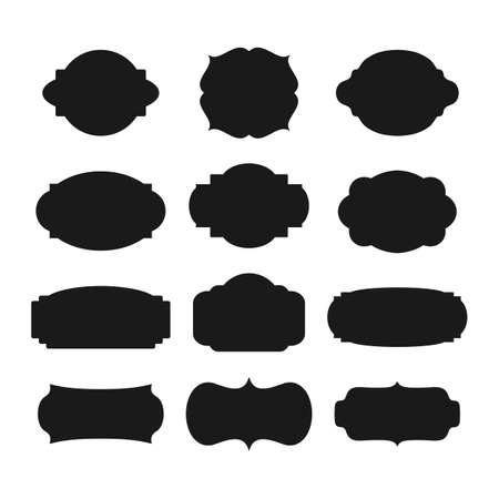 blanc: A set of farmes silhouette.