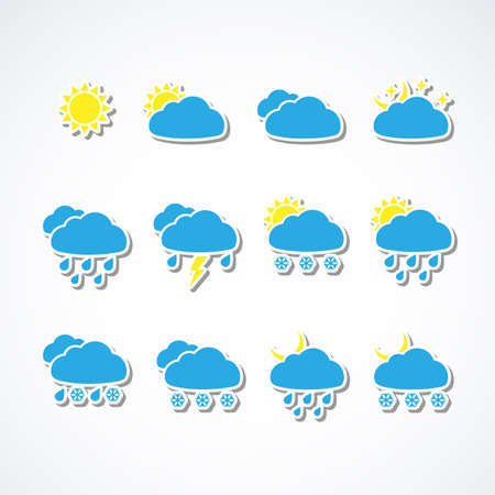 Set of Weather web icons Stock Vector - 15788296