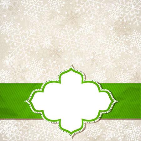 The Christmas frame Vector