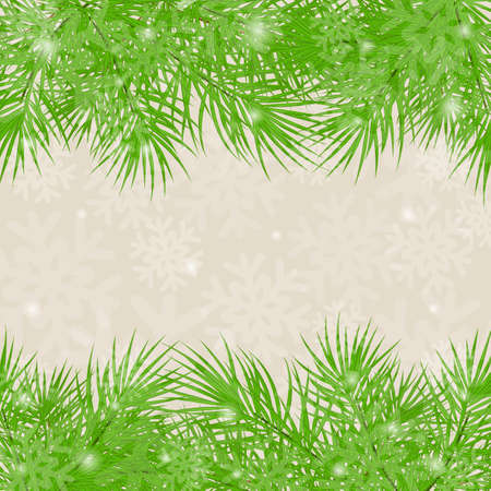 christmastree: Christmas green background Christmas-tree branches