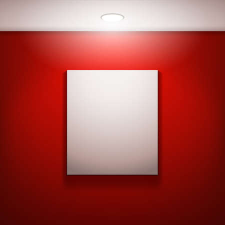 creativ: The white frame on a red wall
