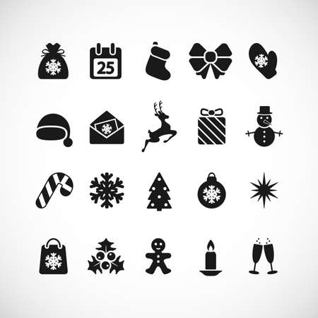 Set of Christmas icons. Vector illustration. Vector