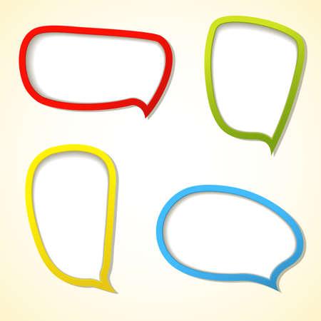 Set of four Color web frame. Vector illustration. Eps10. Stock Vector - 16478361