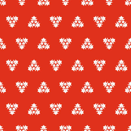 repetition: Christmas seamless background with mistletoe
