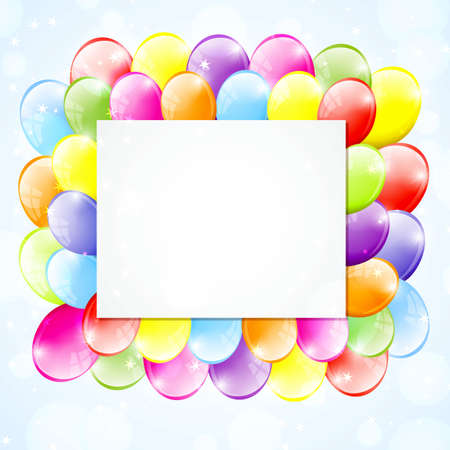 Festive frame with colorful balloons Stock Vector - 17155324