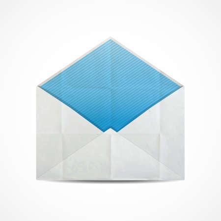 enveloppe ancienne: Vieux enveloppe froiss�e ouverte.