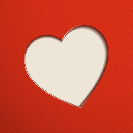 valentine's day: Red Valentines Day background with heart. Illustration