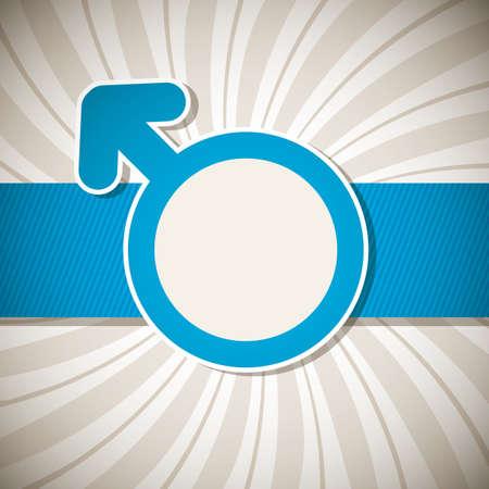 gender symbol: Valentines Day background with with gender signs. Illustration