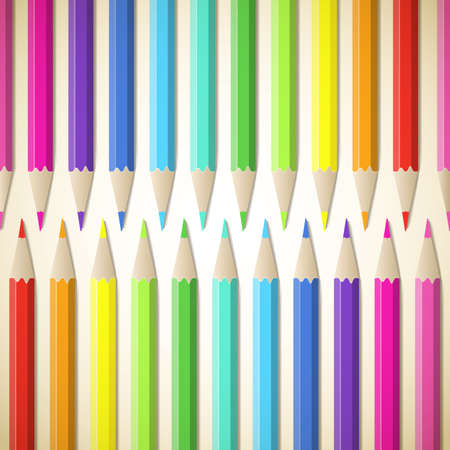 Background with colored pencils Vector illustration Stock Vector - 17365858