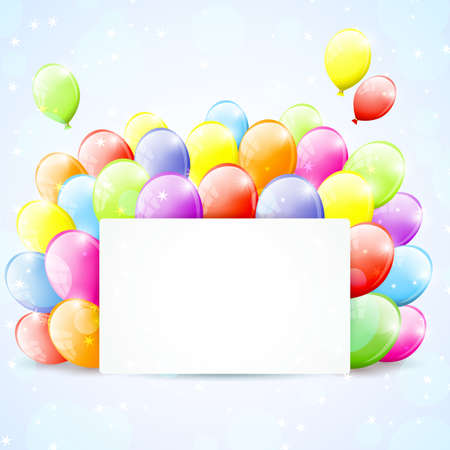 Festive frame with colorful balloons Stock Vector - 17314624