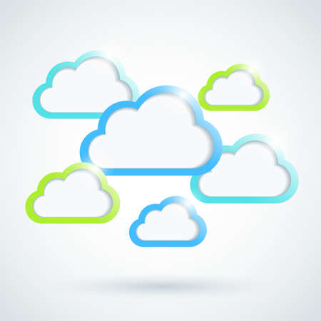 Clouds background Stock Vector - 17376493