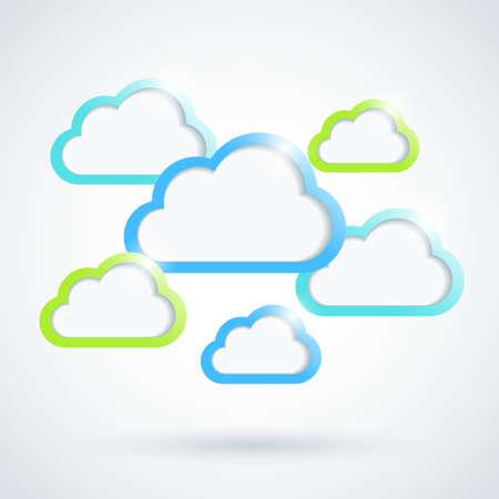 clouds cartoon: Las nubes de fondo