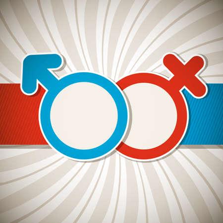 gender symbol: Valentine Illustration