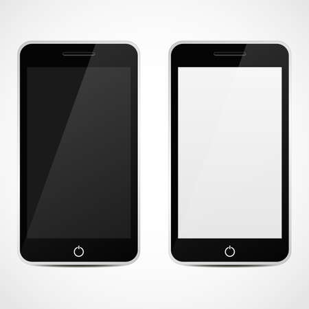 Smart Phones With Black and white Screen     Vector illustration  Vector