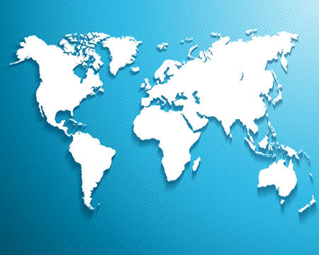 digital world map: Abstract background with a map of the world     Vector illustration Illustration