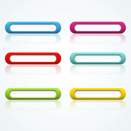 Set of colorful 3d buttons  Vector illustration  Stock Vector - 18354047
