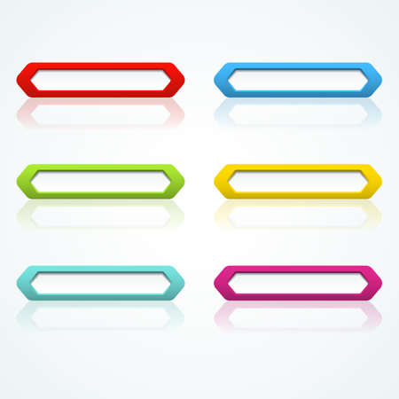 Set of colorful 3d buttons  Vector illustration Stock Vector - 18354049