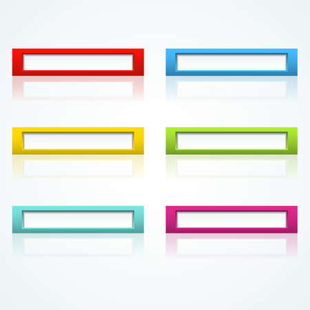 Set of colorful 3d buttons  Vector illustration  Stock Vector - 18354052