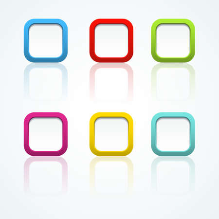 Set of colorful 3d buttons  Vector illustration  Stock Vector - 18354054