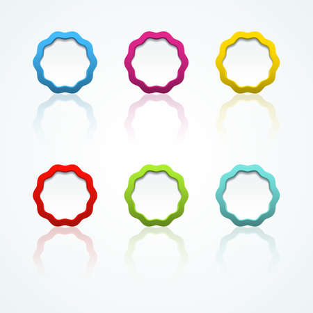 Set of colorful 3d buttons  Vector illustration Stock Vector - 18354053