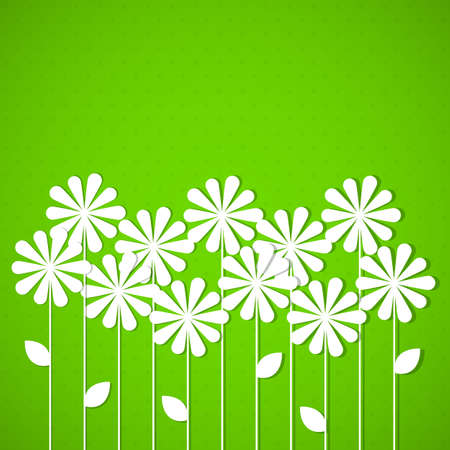 Abstract spring background with flowers  Vector illustration  Vector