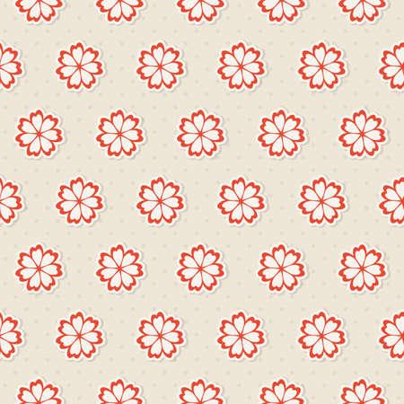 tile able: Seamless pattern con fiori illustrazione Vettoriali