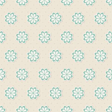 tile able: Seamless pattern con fiori illustrazione vettoriale
