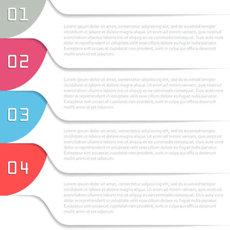 Infographics template with four options. Vector illustration. Illustration