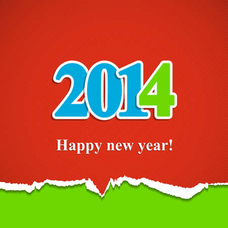 New year background with the inscription 2014 Vector illustration. Eps10. Vector