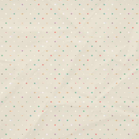 crumpled background with polka dots. Vector illustration. Eps10. Vector