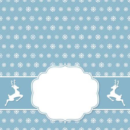 blanc: Marco de la Navidad en el fondo de los copos de nieve. Ilustraci�n del vector.