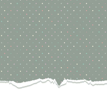 Torn background with polka dots. Vector illustration. Eps10. Vector