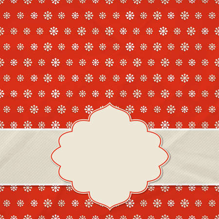 holyday: Christmas frame on the background of snowflakes. Vector illustration.