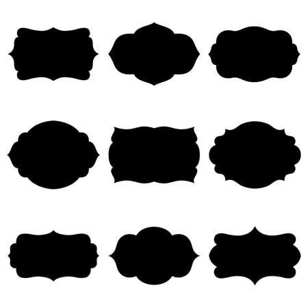 blanc: Set of farmes silhouette Illustration