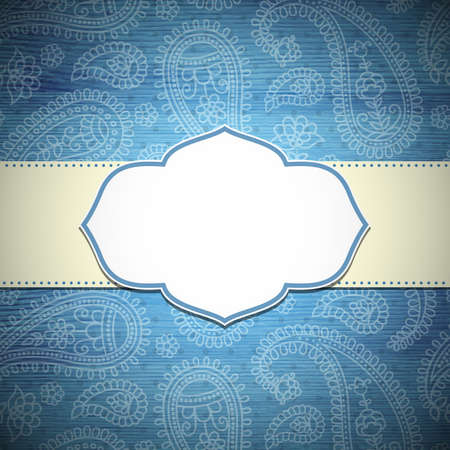 national border: Frame in the Indian style Illustration