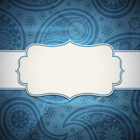 bordes decorativos: Marco en el estilo indio