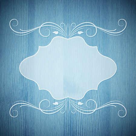 blanc: Retro frame Illustration