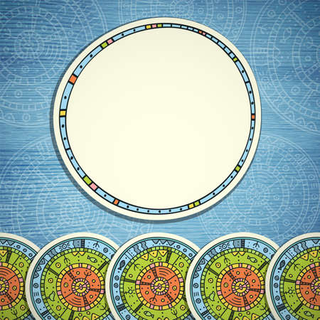 Ethnic frame Illustration