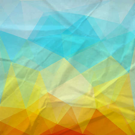 artistic background: The retro triangle paper background.