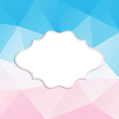 blanc: Frame in retro style on a triangle background. Vector illustration.