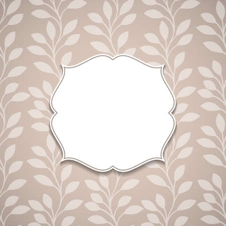 borders plants: Frame on a nature ornamental backgrounds with leaves.Vector illustration.