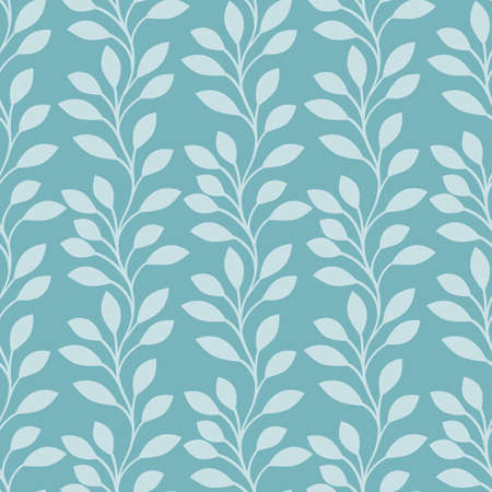 tree leaves: Nature background with leaves. Seamless pattern. Vector illustration.