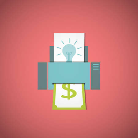 converting: Business concept. Converting ideas into money. Vector illustration. Illustration