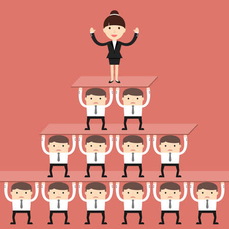 situation: Business situation. Corporate hierarchy in the company. illustration. Illustration